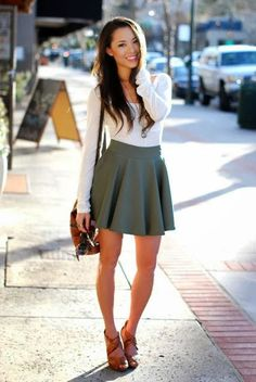 Miss Rich: Trending: The full circle skirt (or skater skirt) and how to wear it
