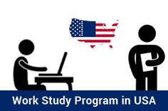 The students doing their masters degree at an approved US university are permitted to work off-campus through USA Work Study Visa Program.