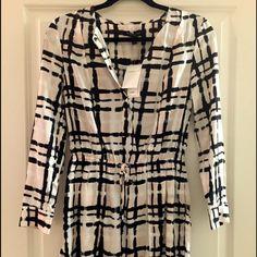 Banana Republic Dress Black/pink/white checkered dress. Never worn. Excellent condition. Banana Republic Dresses
