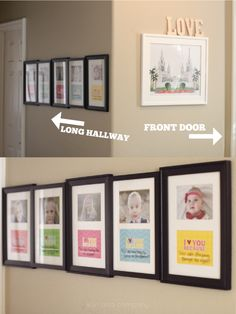 Kids framed pictures with love notes below!  Such a cute idea!  Capturing-Joy.com