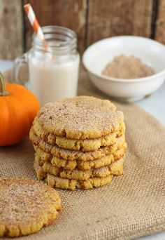 A delicious simple batch of Pumpkin Snickerdoodle Cookies that will make the whole family beg for more. A delicious simple batch of Pumpkin Snickerdoodle Cookies that will make the whole family beg for more. Keto Cookies, Cookies Et Biscuits, Pumpkin Cookies, Pumpkin Spice, Vegan Gluten Free Cookies, Cheese Cookies, Pumpkin Bread, Pumpkin Puree, Low Carb Deserts