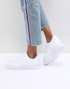 best website e2fb3 7b348 Nike – Air Force 1 – Vita sneakers i ormskinnsimitation