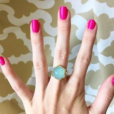 This new Olivia & Grace cocktail ring in Aqua Chalcedony is everything you've been searching for in a cocktail ring. Trust us.  by rocksbox