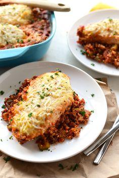 Gluten-free Chicken Parmesan Quinoa Bake Recipe plus 49 more gluten-free main dish recipes
