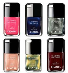 Love these Chanel Nail Polish iPhone Cases