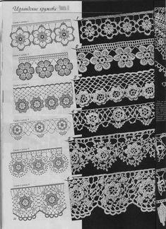 .irish crochet motifs