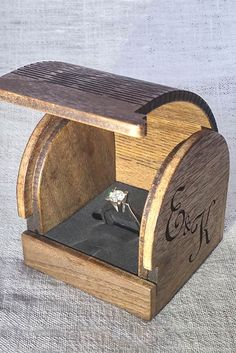 Wooden Rings Craft, Wooden Ring Box, Wooden Jewelry Boxes, Kids Jewelry Box, Large Jewelry Box, Musical Jewelry Box, Engagement Box, Wooden Wedding Bands, Proposal Ring Box