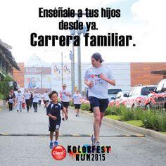 #KolorFestRunGT #muchomásqueunacarrera  Enséñale a tus hijos a través del ejemplo.