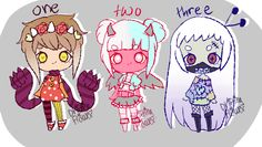Cute monsters [closed] by hello-planet-chan on DeviantArt