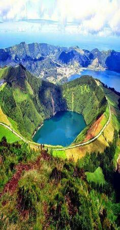 Lake of Fire, Sao Miguel, Azores