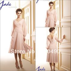 13388 customer made Plus size Chiffon A-line tea length mother of the bride dresses with sleeve 2013