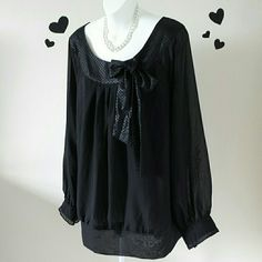 I just discovered this while shopping on Poshmark: Unique Spectrum Black Blouse. Check it out! Price: $24 Size: 3X, listed by bella75baby