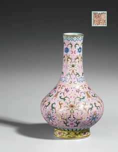 A famille rose vase, Jiaqing six-character seal mark and of the period (1796-1820)