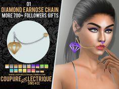 Coupure Électrique - SIMS 4 CC: MORE 700+ FOLLOWERS GIFTS: DIAMOND EARNOSE CHAIN 01