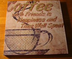 Coffee With Friends Sign Rustic Primitive Shabby Chic Kitchen Cafe Home Decor #OhioWholesale #RusticPrimitive