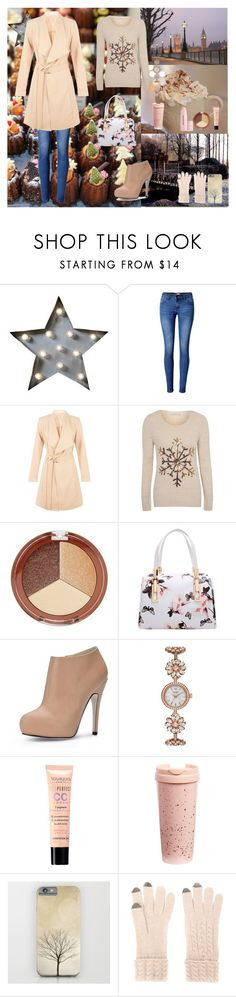 """""""Winter is coming"""" by oksana-kolesnyk ❤ liked on Polyvore featuring Creative Co-op, WithChic, Cameo Rose, George, Mineral Fusion, Kate Spade, Bourjois, ban.do, N.Peal and Buxom"""