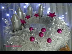 ❄ Vánoční adventní věnec z organzy (Christmas advent wreath) ❄