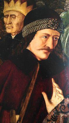Vlad Dracula Ţepeş. Maria am Gestade, Wien. Kreuzigung, Tafelbild des Meisters von Maria am Gestade (um 1460). Detail.