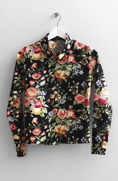 Floral Garden Print Shirt - Somemoment - Womens Clothing