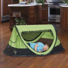 For when you go to the lake/beach/anywhere!. PeaPod Plus Baby Travel Bed…great from birth to age 6. Keeps bugs out, blocks the wind and protects from UVA rays