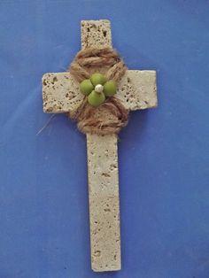 Handmade Stone Cross / Gift Under 25 / GREAT by DaisyAndMomSupply