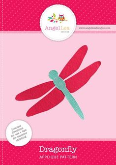 dragonfly applique pattern There's also a soccer ball Applique Templates Free, Applique Tutorial, Quilting Templates, Animal Templates, Felt Patterns, Quilt Patterns Free, Applique Patterns, Applique Quilts, Baby Applique