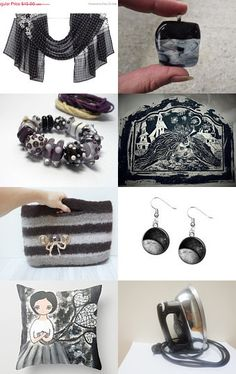 Black Finds by Oksana Linnell on Etsy--Pinned with TreasuryPin.com