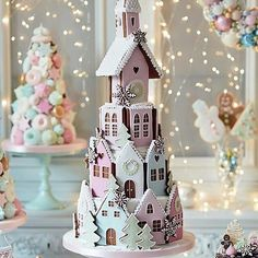 Wow.. this gingerbread cake winter village.