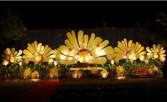 Birth Day Stage Decorations Stage Decorations, Flower Decorations, Party Background, Entrance Gates, Wedding Stage, Unique Flowers, Staging, Marriage, Autumn