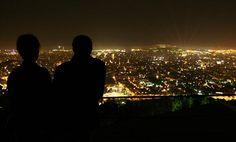 Enjoying Barcelona at night