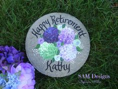 RETIREMENT GIFT Years of Service Hand Painted Garden Stone | Etsy Wedding Gifts For Bride And Groom, Wedding Gifts For Parents, Bride Gifts, Groom Gifts, Parent Gifts, Teacher Gifts, Nanny Gifts, Nurse Retirement Gifts, Personalized Garden Stones