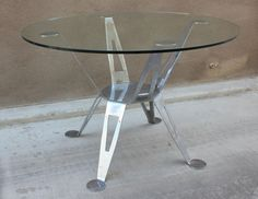 Mexico, Pedro Ramirez Vazquez Chromed Steel Dining Table | From a unique collection of antique and modern dining room tables at https://www.1stdibs.com/furniture/tables/dining-room-tables/