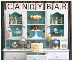 Candy Bar!  Love the Scrabble Tiles, love the hutch!  Love it ALL!!