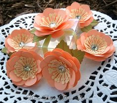 Handmade Paper Flowers - Wedding Favors - Embellishment