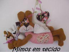 Guirlanda coelha anjinho!! | Mimos em tecido By Bianca Dutra | Elo7