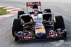 Max Verstappen drives the Toro Rosso at Toro Rosso launch - Formula 1 Photos Red Bull Racing, F1 Racing, Gp F1, 2015 Cars, Williams F1, Nico Rosberg, Formula 1 Car, First Car, Rafael Nadal
