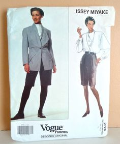Issey Miyake Vogue 2720 pattern JACKET, SKIRT, SHORTS, SZ 12 uncut factory fold #VoguePatterns