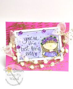 Card by Terri Burson of Waving My Wand for the The Hop to Stop domestic violence