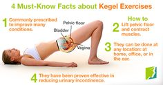 4 Must-Know Facts about #Kegel Exercises. #pelvicfloor