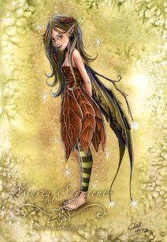 Fairy Beautiful Fairies, Fantasy Creatures, Magical Creatures, Sprites, Enid Blyton, Autumn Fairy, Nymphs, Playing Games, Princess Zelda