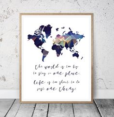 Floral world map printable world map world map wall by msdesignart world map printable wall art world map print world map poster world is gumiabroncs Images