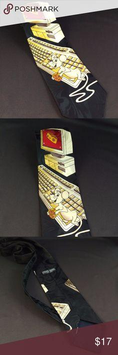 "Funny Mouse Necktie Steven Harris 56"" Classic Cute Computer Geek Mouse Neck Tie   59"" Length  4"" width   RT1 Steven Harris Accessories Ties"