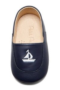 Sailboat Embroidered Loafers (navy)