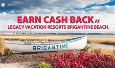 Book direct at Brigantine Beach & get CASH BACK on your stay!  #mylegacyvaca #vacation#rewards #brigantine #brigantinebeach #jerseyshore Vacation Club, Vacation Resorts, Brigantine Beach, New Jersey Beaches, Beach Town, Things To Do, Island, Book, Fun