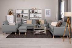 Köp Soffa Sonora 3-Sits Grå hos Chilli. Hos oss får du hög kvalitet till bra pris. Handla fraktfritt med snabb leverans direkt till dörren - Välkommen! Couch, Furniture, Home Decor, Decoration Home, Room Decor, Sofas, Home Furniture, Sofa, Interior Design