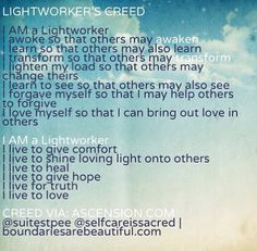 Lightworker creed