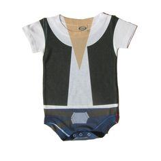 Baby Cosplay Onesie Han Solo Parody Star Wars by NerdyWithKids Star Wars Baby Clothes, Star Wars Onesie, Baby Cosplay, Geek Baby, Star Wars Outfits, Twin Babies, Baby Twins, Baby Baby, Baby Costumes