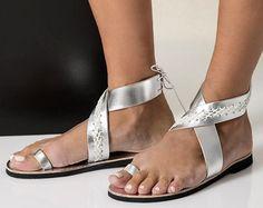 Sandalias de cuero bohemio en seis colores. Thalia  el envío