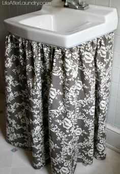Superior Sink Skirt With Riley Blake Home Decor Fabric
