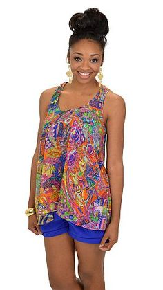 Psychedelic Tank :: NEW ARRIVALS :: The Blue Door Boutique